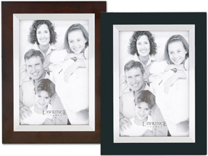 Lawrence 5x7 Wood & Silver Metal Picture Frame
