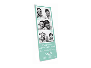 MCS Acrylic Magnetic Photo Booth Frame 2x6