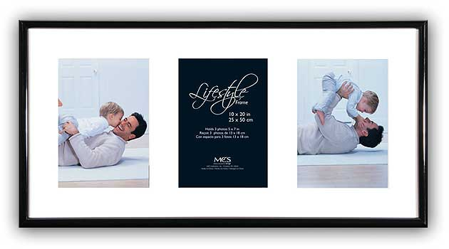 Get Smart Products - MCS Lifestyle Collage Frame 10x20 w/3-5x7 Openings