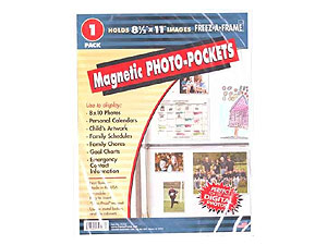 Flexible Magnetic Photo Pockets - 8-1/2x11 (1 Pack)