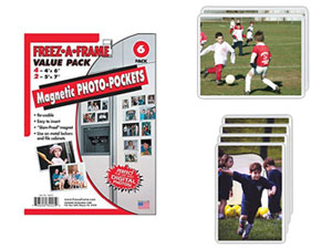 Flexible Magnetic Photo Pocket Combo - 4x6 & 5x7 (6 Pack)