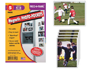 Flexible Magnetic Photo Pockets for 4x6 (5 Pack)