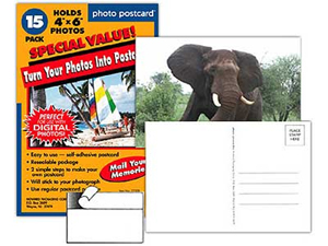 Peel and Stick Photo Postcards 4x6 (15 pack)