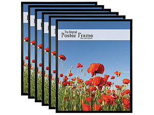 mcs 24x36 poster frames corrugated pack of 6