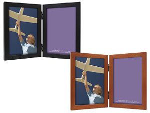 MCS Linear Wood Double Picture Frame For 5x7