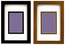 MCS Linear Wood Picture Frame Matted For 2-1/2x3-1/2
