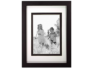 MCS Linear Wood Picture Frame Matted For 3-1/2x5