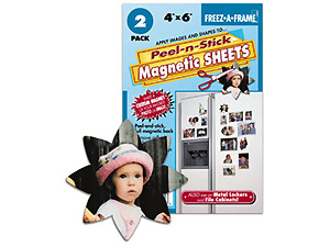 Peel-n-Stick Magnetic Sheets 4x6 (2-pack)