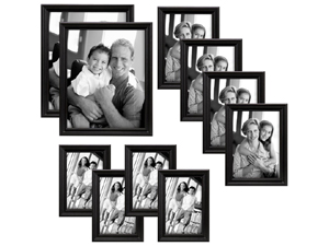 MCS Solid Wood Value 10 Frame Set Black