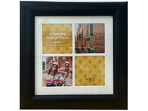 MCS Value Collage Frame Matted For Four 4x4