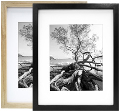 MCS 8x10 Solid Wood Art Frame Matted For 5x7