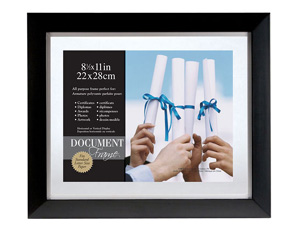 MCS 11x14 Wood Float Document Frame For 8.5x11