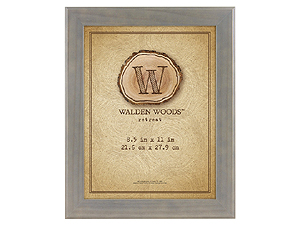 MCS 8-1/2x11 Walden Woods Retreat Weathered Gray Frame