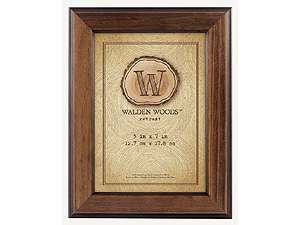 MCS 5x7 Walden Woods Retreat Walnut Frame