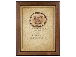 MCS 8-1/2x11 Walden Woods Retreat Walnut Frame
