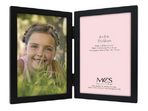 MCS Willow Wood Double Vertical Picture Frame For 4x6