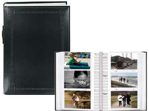 Pioneer DA-300ESBK 4x6 Embossed Photo Album