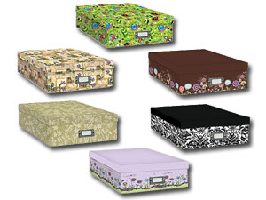 Pioneer Scrapbooking Storage Box With Printed Designs