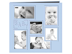 Pioneer MB-10COLBB Blue Collage 12x12 Baby Scrapbook