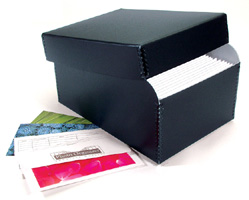 Lineco Infinity 4x6 Photo File Box - Black