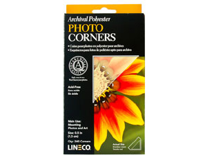 Lineco Mylar Photo Mounting Corners - Small