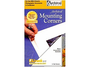 Lineco Poly Mounting Corners 3 inch Full (100)