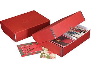 Lineco Greeting Card Storage Box - Christmas