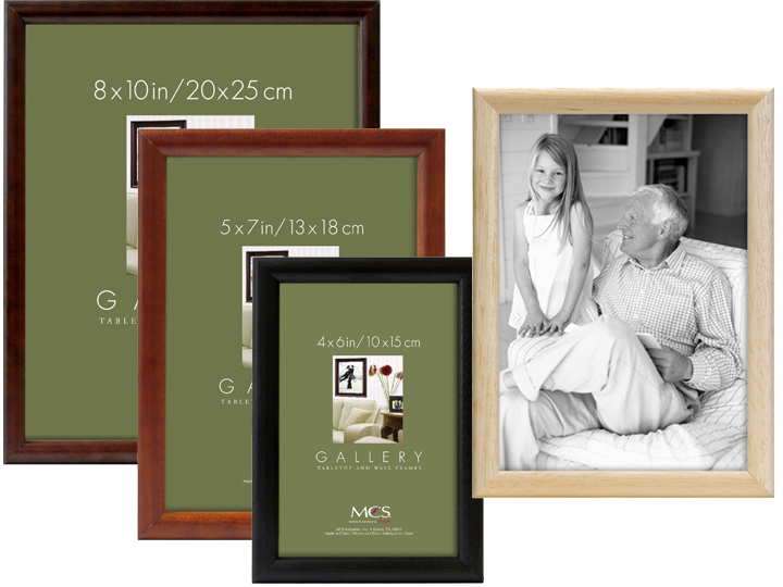 Same Shipping Any Qty MCS Bullnose Tabletop 5x7 Picture Frame Black