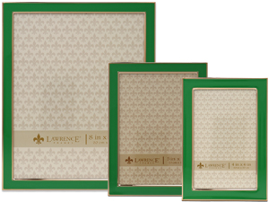 Lawrence Emerald Green & Gold Picture Frames