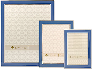 Lawrence Navy Blue Enamel Picture Frames