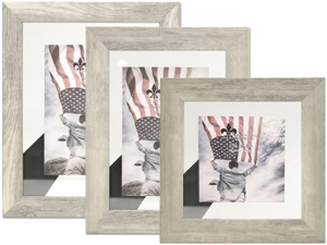 Lawrence Arden Natural Gray & Glass Float Frames
