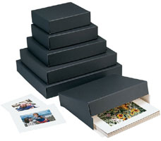 "Museum Storage Boxes - Black (1-1/2"" Depth)"
