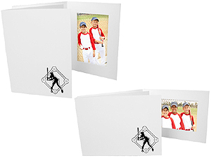 Baseball Player 4x6 Sports Event Photo Folders (25 Pack)