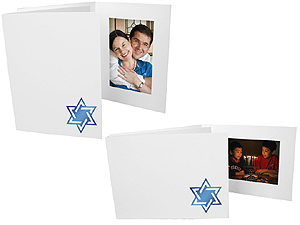 Star of David 4x6 Event Photo Folders (25 Pack)