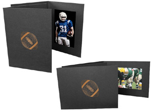 Football 4x6 Sports Event Photo Folders (25 Pack)