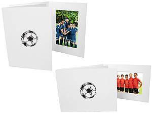 Soccer 4x6 Sports Event Photo Folders (25 Pack)