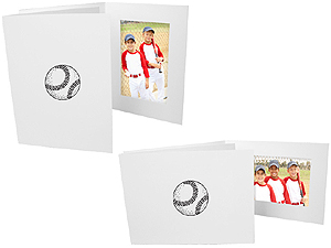Baseball 4x6 Sports Event Photo Folders (25 Pack)
