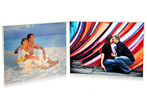 Saflin Extra Sturdy Bent Acrylic Frame 3-1/2x5 Double Horizontal