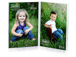 Saflin Extra Sturdy Bent Acrylic Frame 8x10 Double Vertical