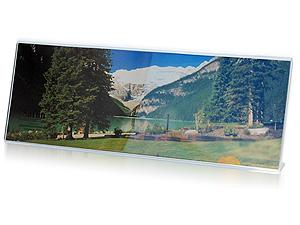 Saflin Extra Sturdy Bent Acrylic Frame 11-1/2x4 Horizontal
