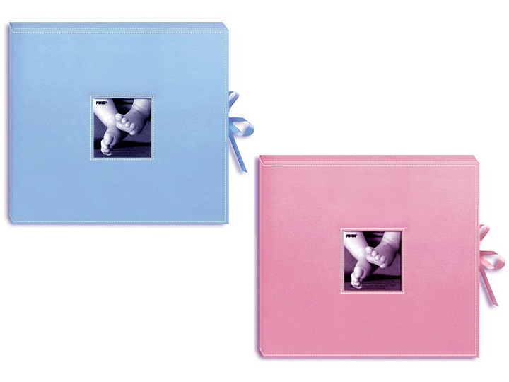 """Pioneer 3-Ring Sewn Leatherette Album 12/""""X12/""""-Bright Pink"""