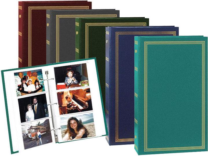 Hunter Green 3-Ring Photo Album 300 Pockets Hold 4x6 Photos