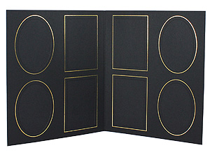 8-Up Smooth Finish Proof Folders For 4x5 or 3.5x5 (25 Pack)