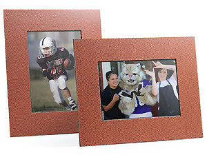 Football Texture Beveled Easel Frame (25 Pack)