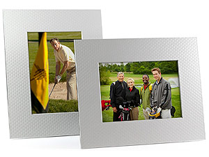 Golf Ball Dimple 5x7 Beveled Easel Frames - Singles