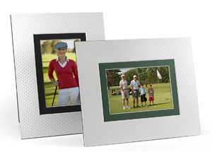Golf Ball Dimple 5x7 Dbl Beveled Easel Frames - Singles