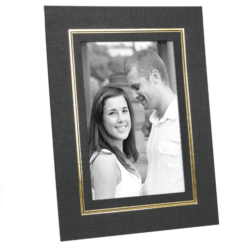 Cardboard Picture Frames 8-1/2x11 w/Foil Border (25 Pack)