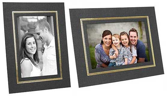 Cardboard Picture Frames With Foil Border (25 Pack)