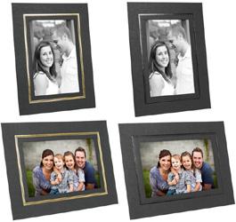 Cardboard Picture Frames 4x5 w/Foil Border (25 Pack)