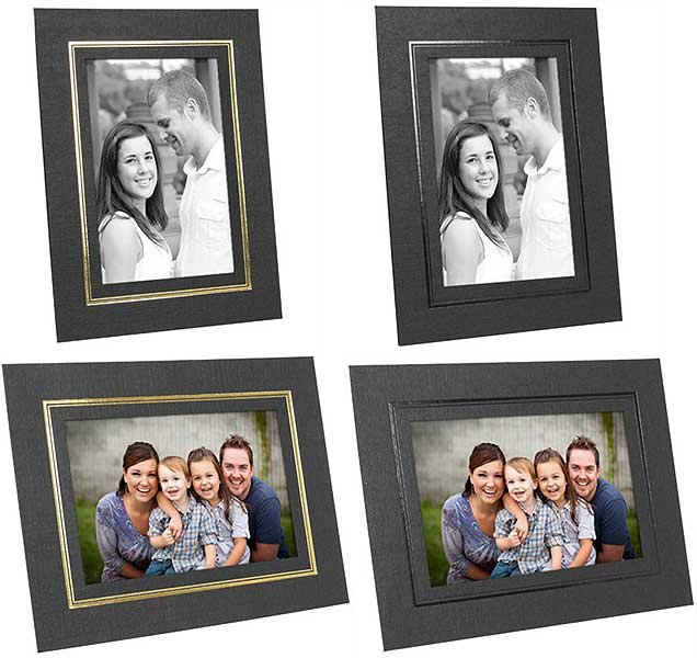 Cardboard Picture Frames With Foil Border 25 Pack